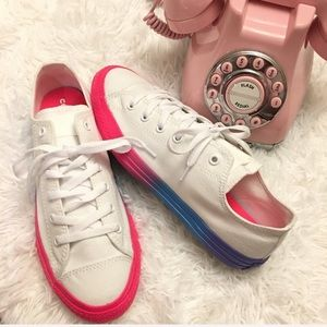 New converse ombré low top sneakers
